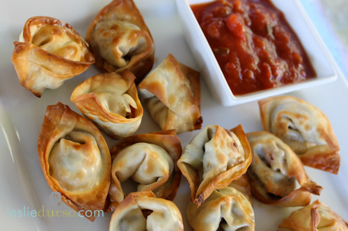 Super Easy Mexican Wontons by LeslieDurso.com