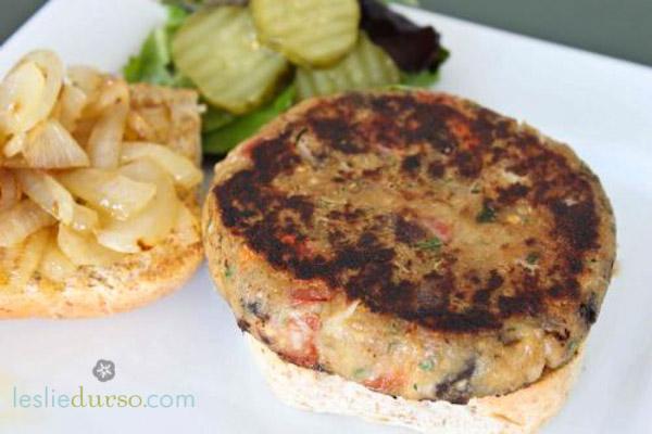 Eggplant Burgers - Vegan & Vegetarian Cooking by Leslie Durso