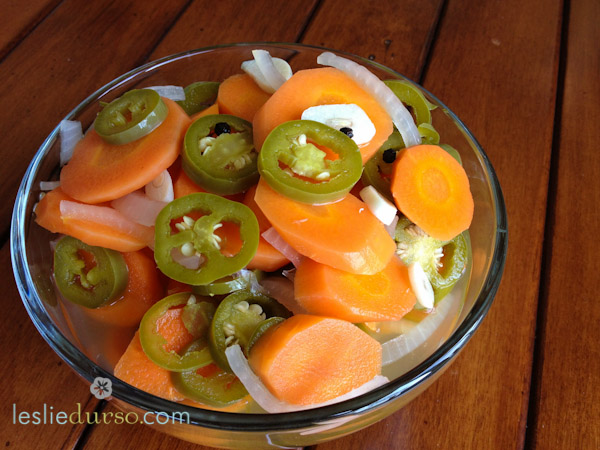 Spicy Pickled Jalapeno and Carrots