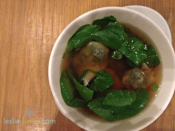 Gobo wonton soup