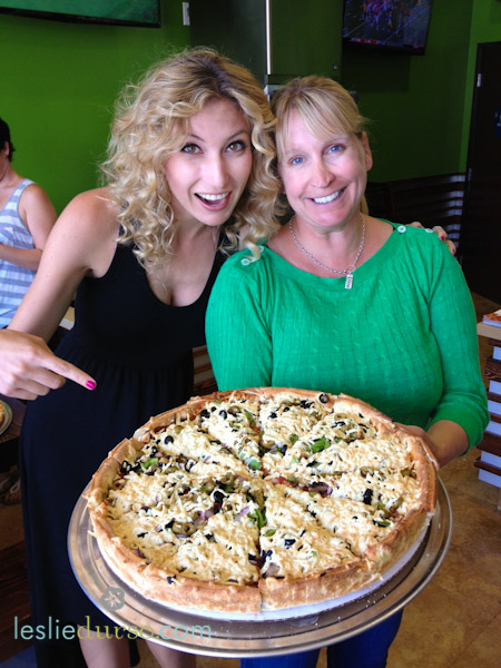 The Deep Dish Vegan Pizza At Fresh Brothers