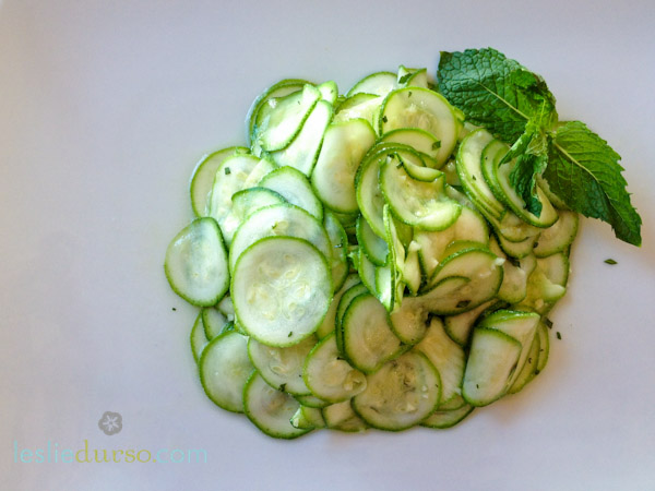 Zucchini Carpaccio (Raw and #Vegan)