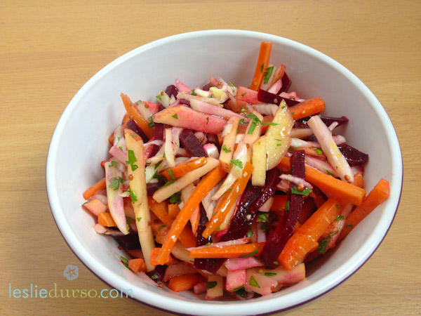 Apple, Beet, Carrot Salad