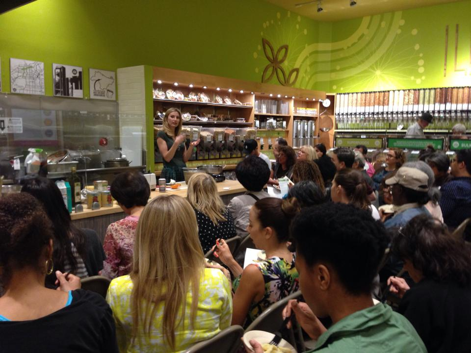 Leslie Durso Teaching at Whole Foods