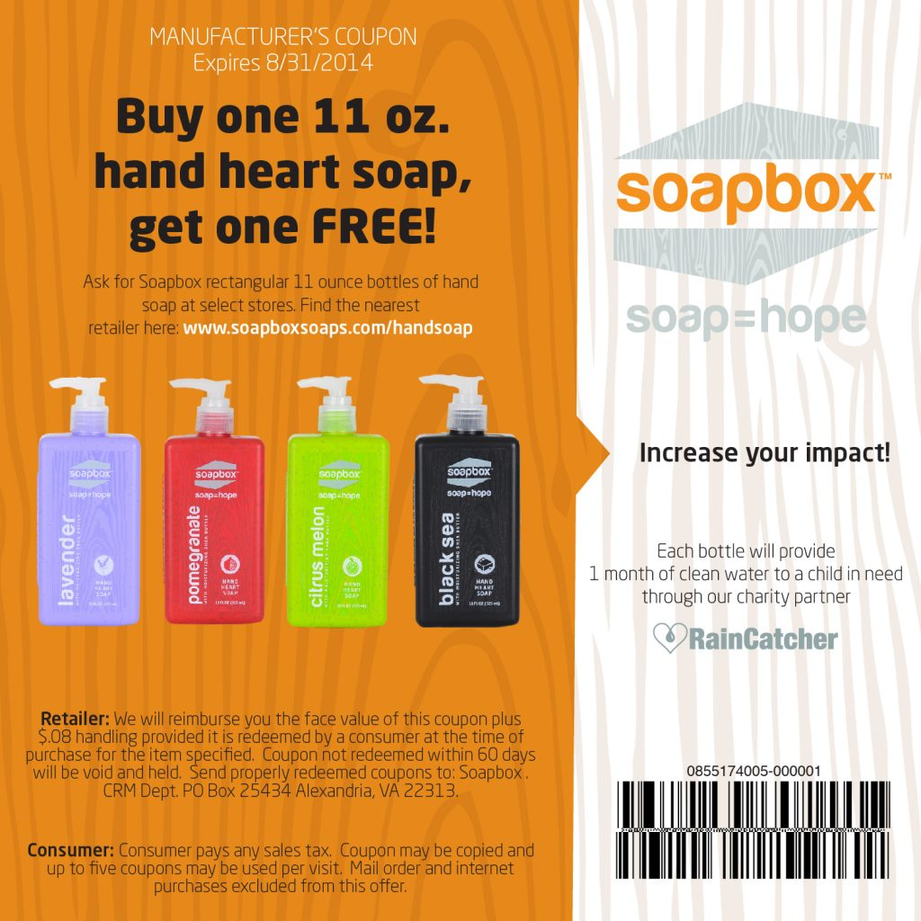 Soapbox Soap Coupon