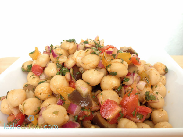 Mediterranean Garbanzo Bean Salad