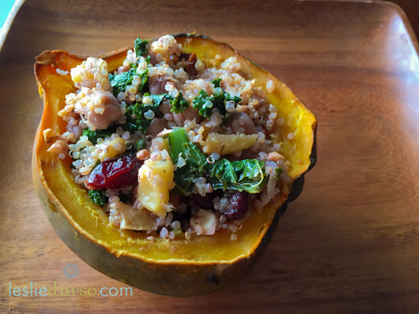 Quinoa Stuffed Acorn Squash - Vegan & Vegetarian Cooking by Leslie ...