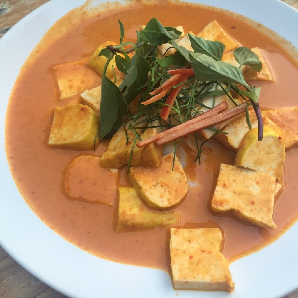 Tofu Panang Curry from Riverside Restaurant. One of my favorite dishes!