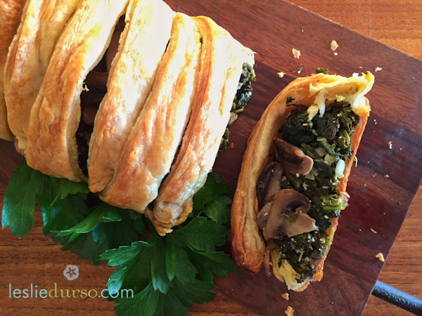 #Vegan Mushroom Spinach Roll by Leslie Durso