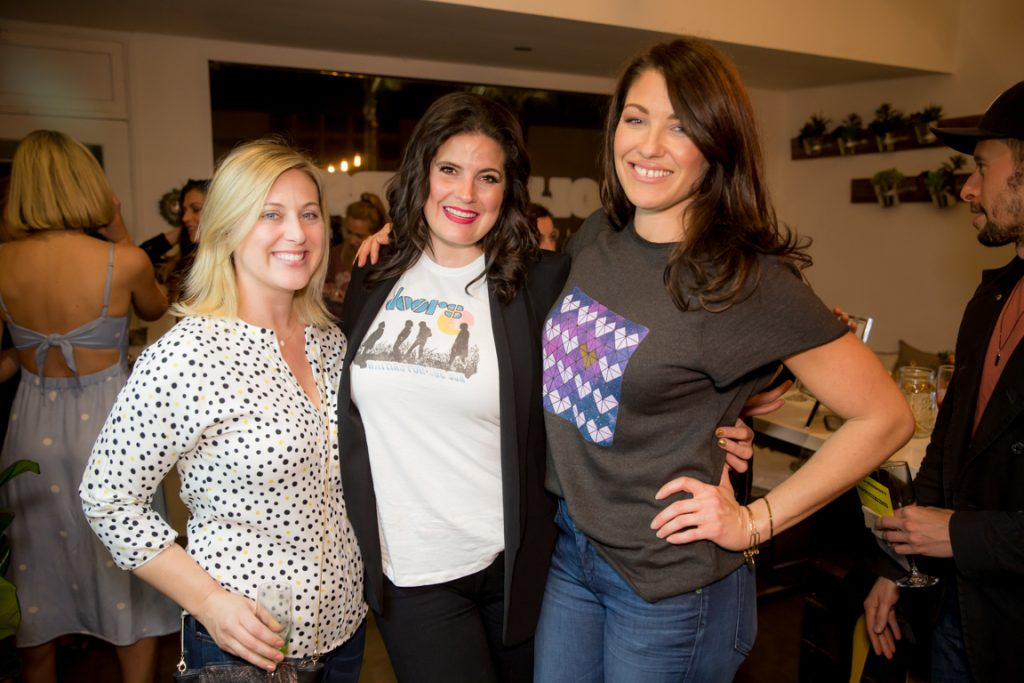 Amanda Goodfreid, Dawn McCoy and Alana Littler at clover cloth ReNew Party