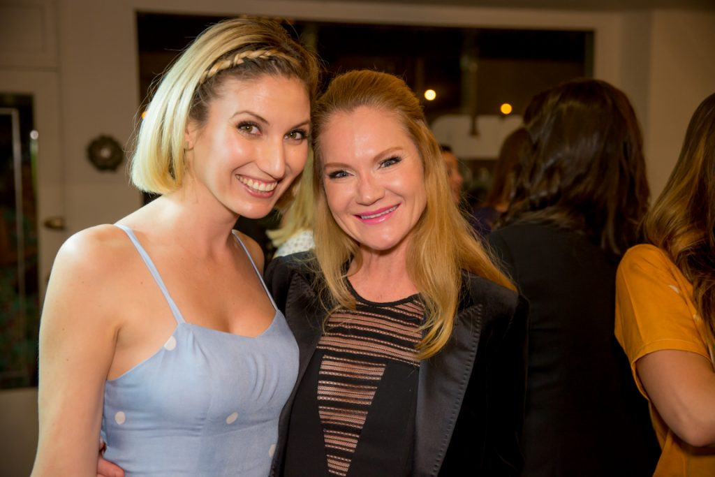 Leslie Durso and Tara Buck at clover cloth ReNew Party