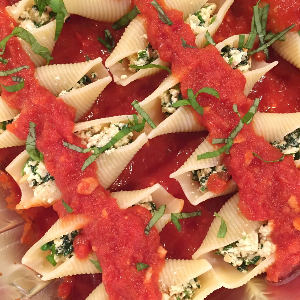 Vegan Spinach Stuffed Shells by Leslie Durso