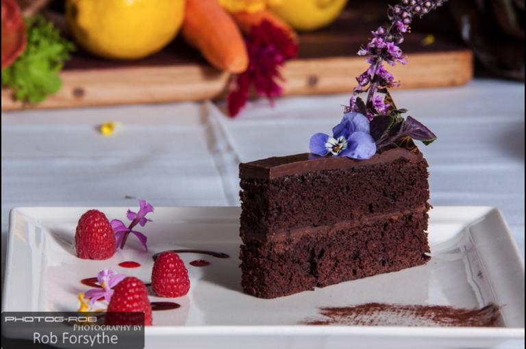Vegan Chocolate Ganache Cake by Leslie Durso