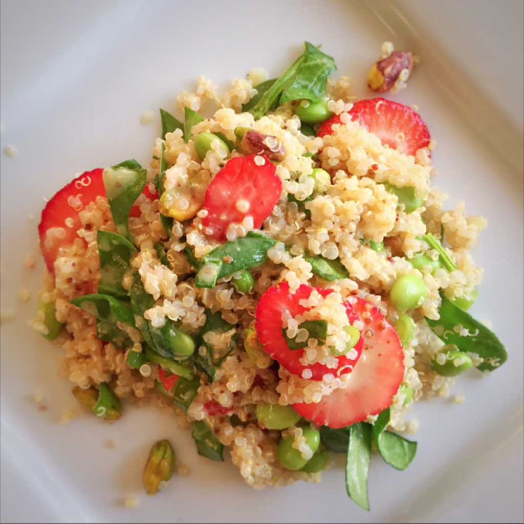 Quinoa & Strawberry Salad by Leslie Durso